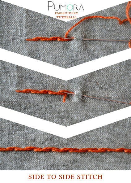 side to side stem stitch tutorial