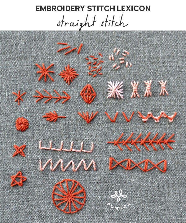 straight stitch embroidery stitch lexicon