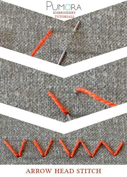 arrow head stitch tutorial