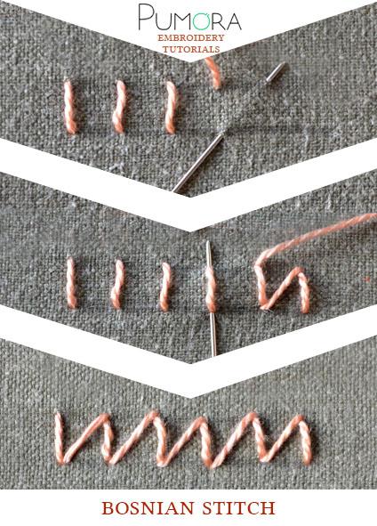 bosnian stitch tutorial