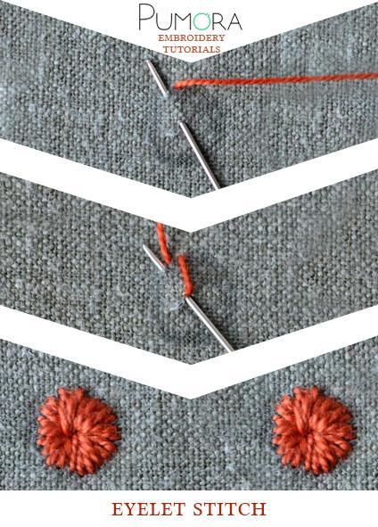 eyelet stitch tutorial
