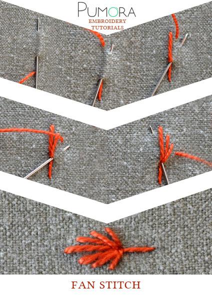 fan stitch tutorial