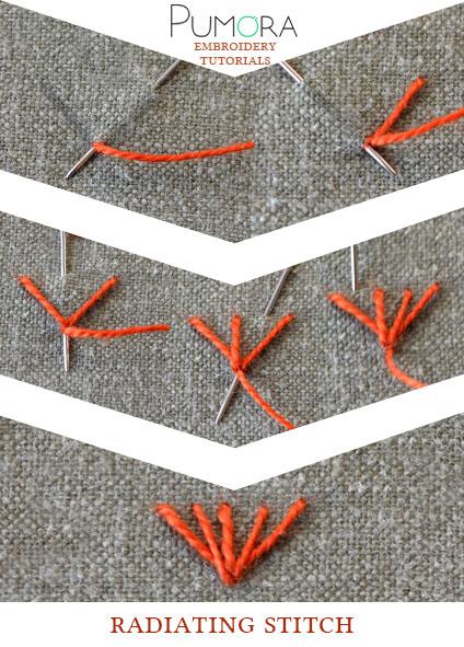 radiating stitch tutorial