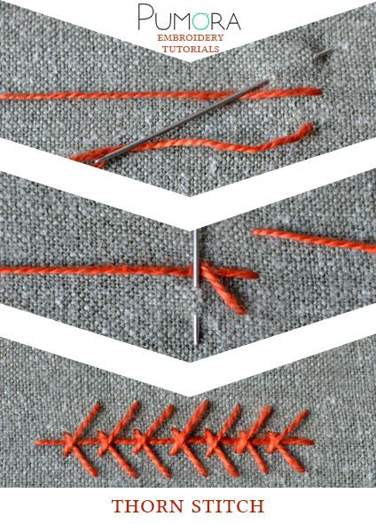 thorn stitch tutorial