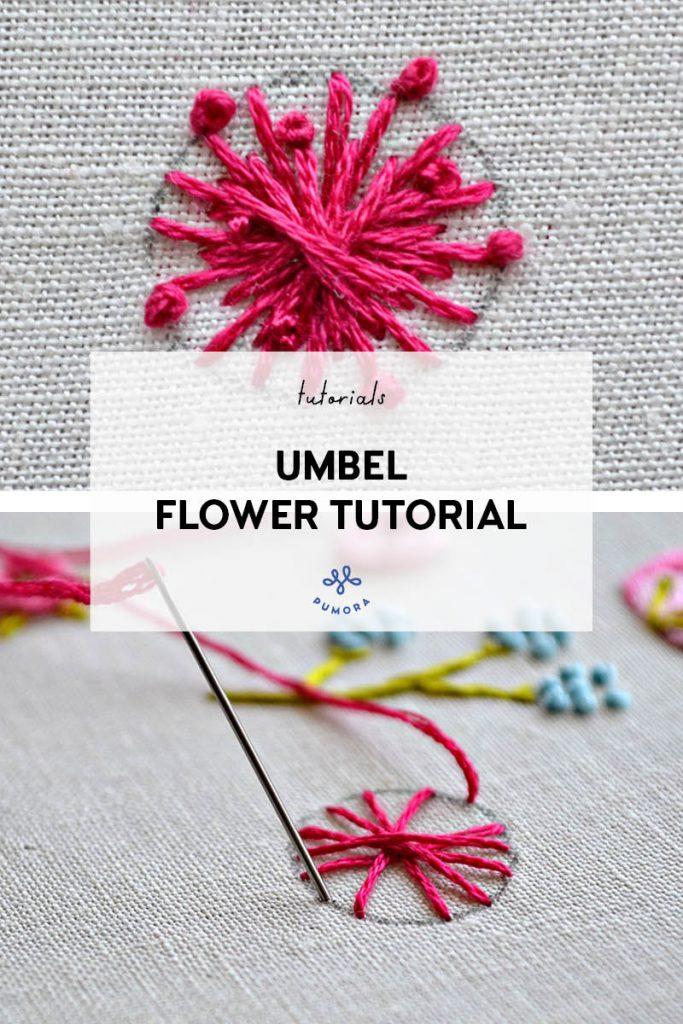 umbel flower embroidery tutorial