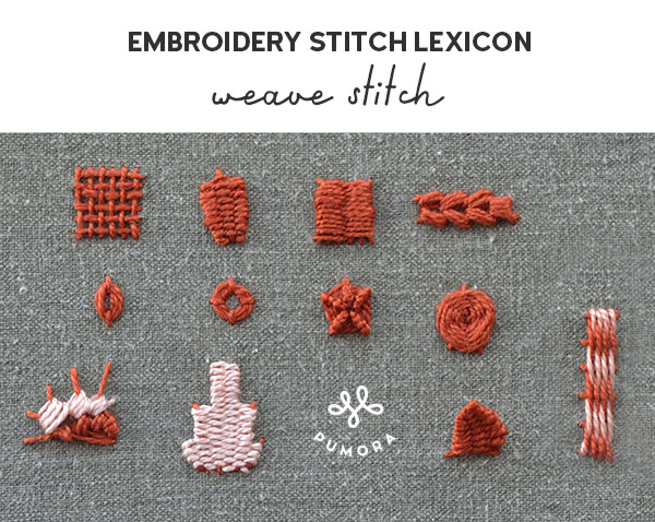 weave stitch embroidery stitch lexicon