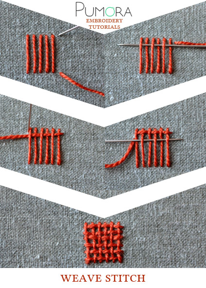 weave stitch tutorial