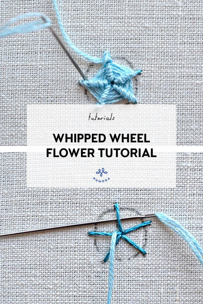 whipped wheel rose - flower embroidery tutorial