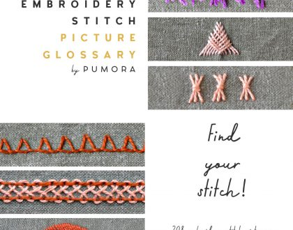Finding an embroidery stitch made easy – the stitch glossary