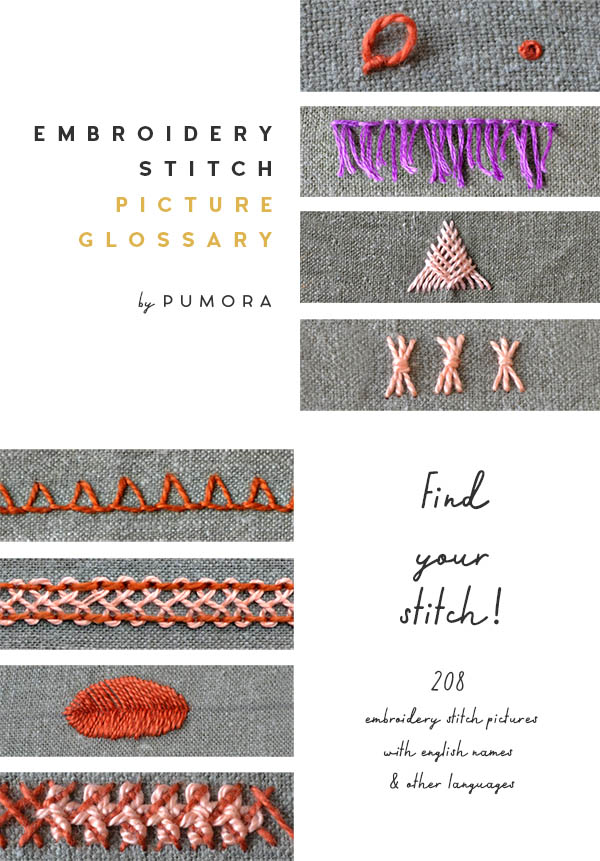 embroidery stitch picture glossary