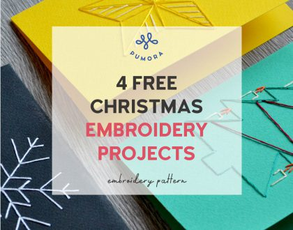 4 free Christmas embroidery patterns