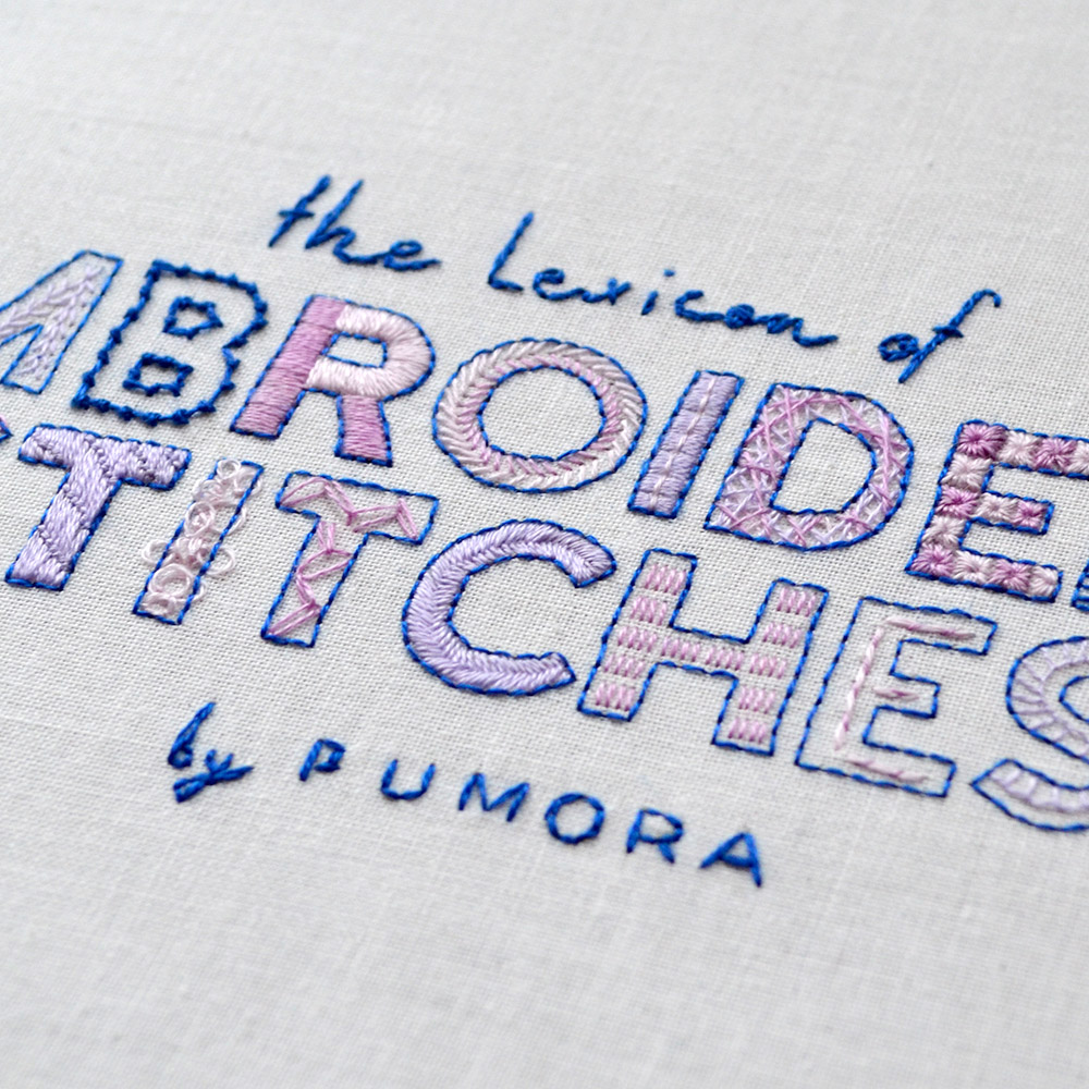 lexicon of embroidery stitches