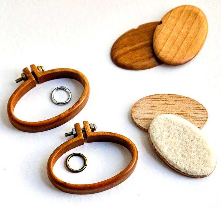 mini embroidery hoops by artbase