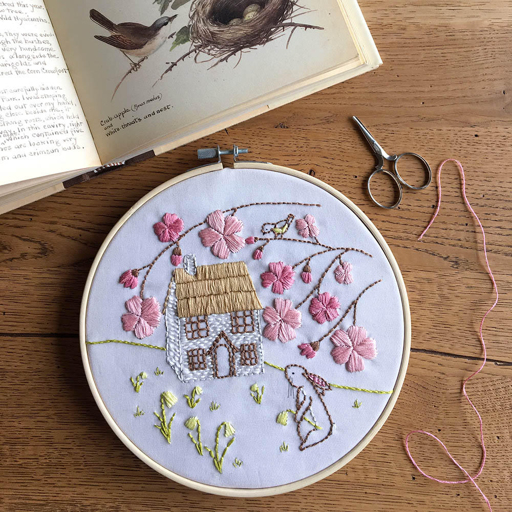 Daffodil Cottage - Hand Embroidery Kit by Bumpkin hill