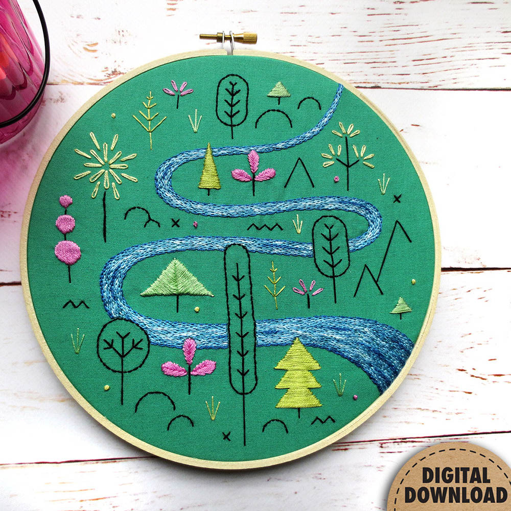 Spring embroidery pattern bethcoletti