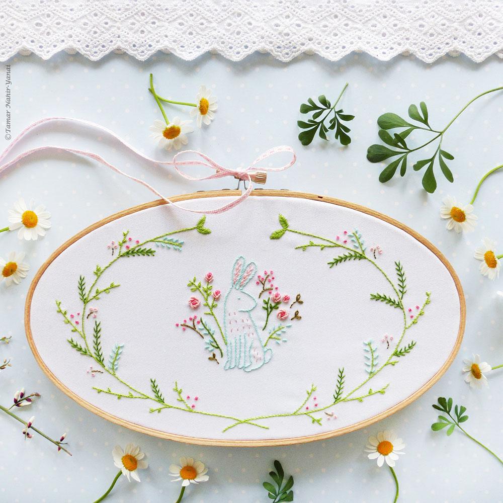 easter bunny embroidery kit by Tamar Yahir Nahai