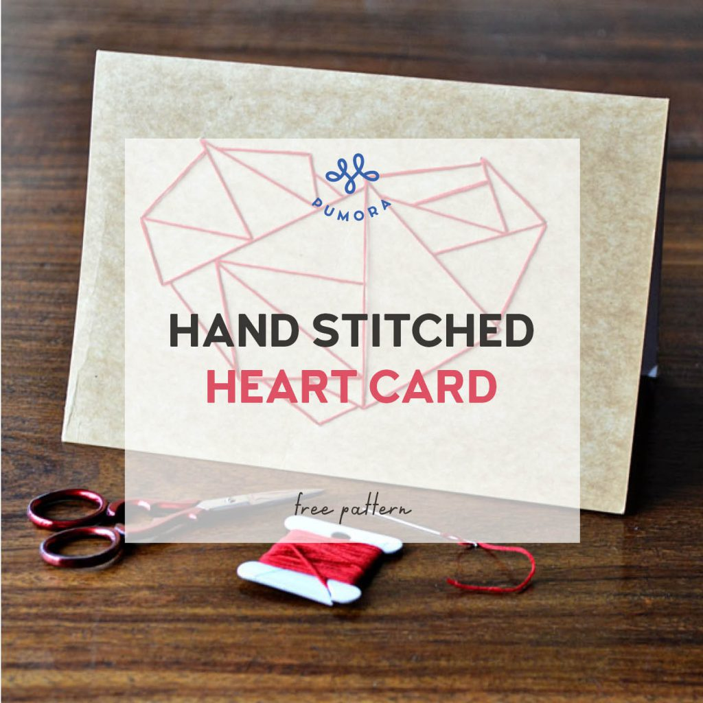how to stitch a heart card