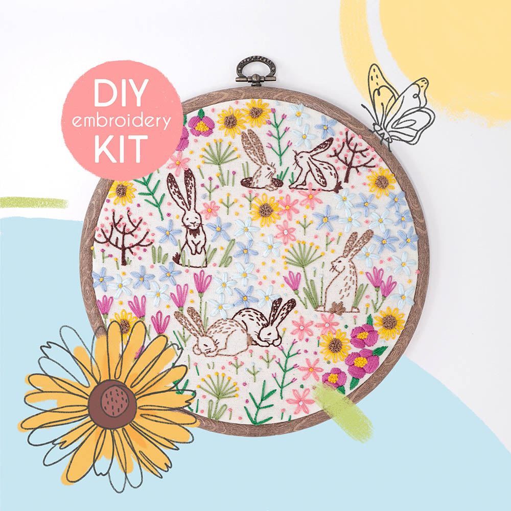 spring embroidery kit by knackmackings
