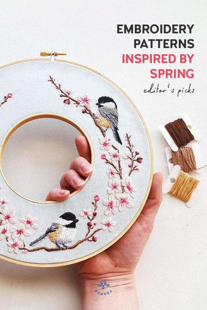 spring embroidery patterns