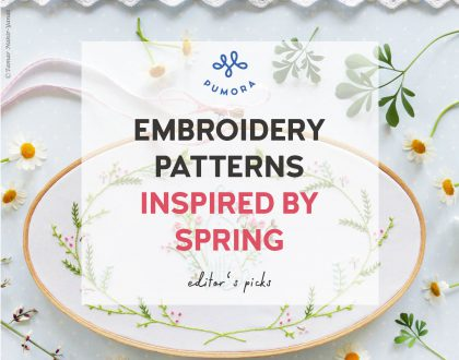 Spring embroidery patterns to decorate your home