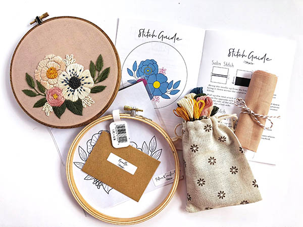 floral embroidery kit by floralsandfloss