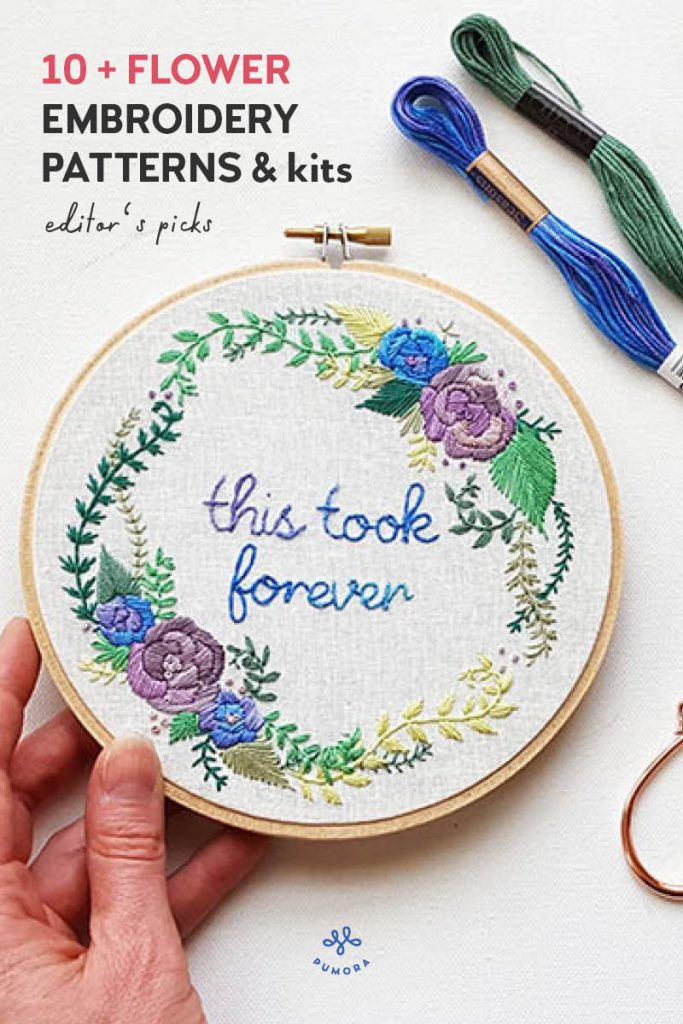 the best of flower embroidery patterns
