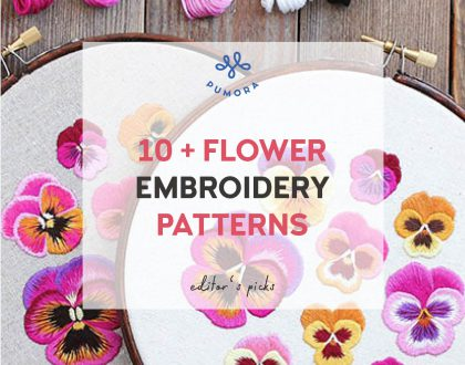 Flower embroidery patterns & kits – floral stitches for your home