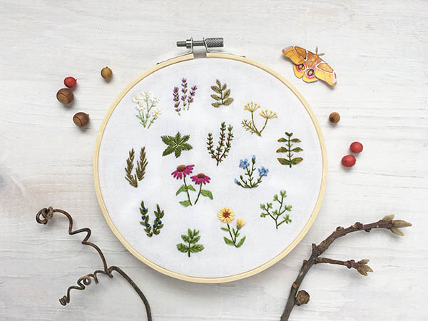 tiny herbs embroidery pattern by littledear