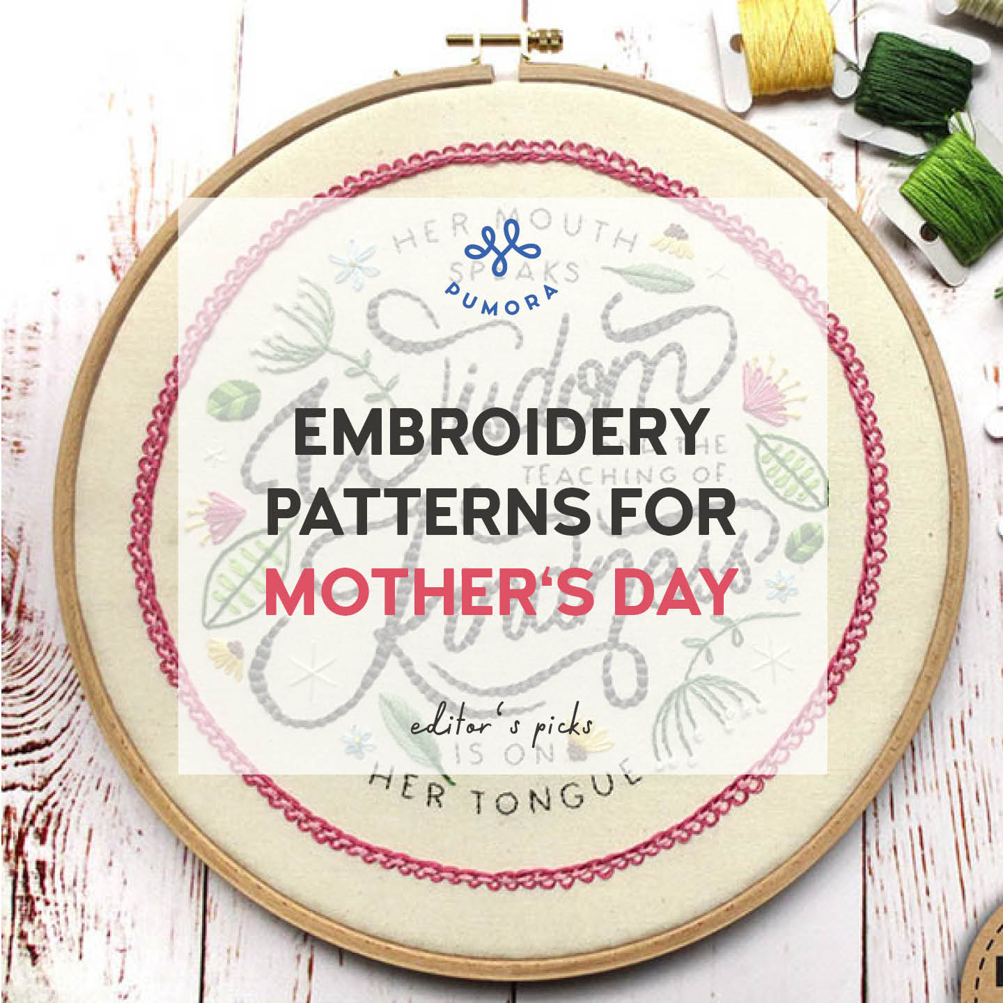 embroidery patterns for mother's day