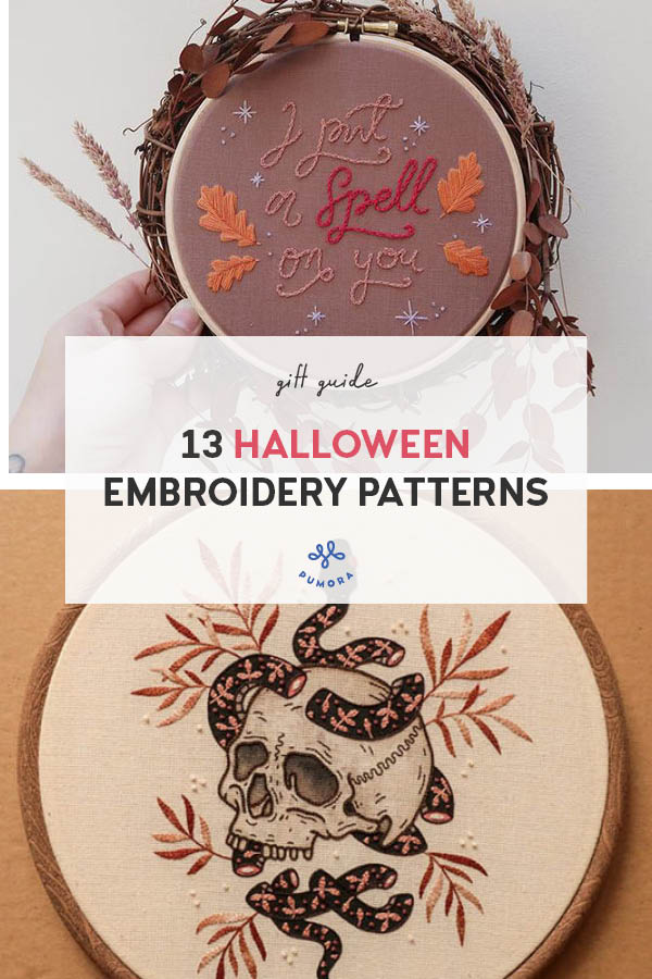 13 Halloween embroidery patterns