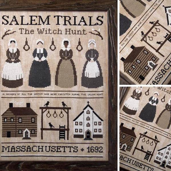salem trials witch hunt cross stitch pattern by LittleStitcherShop