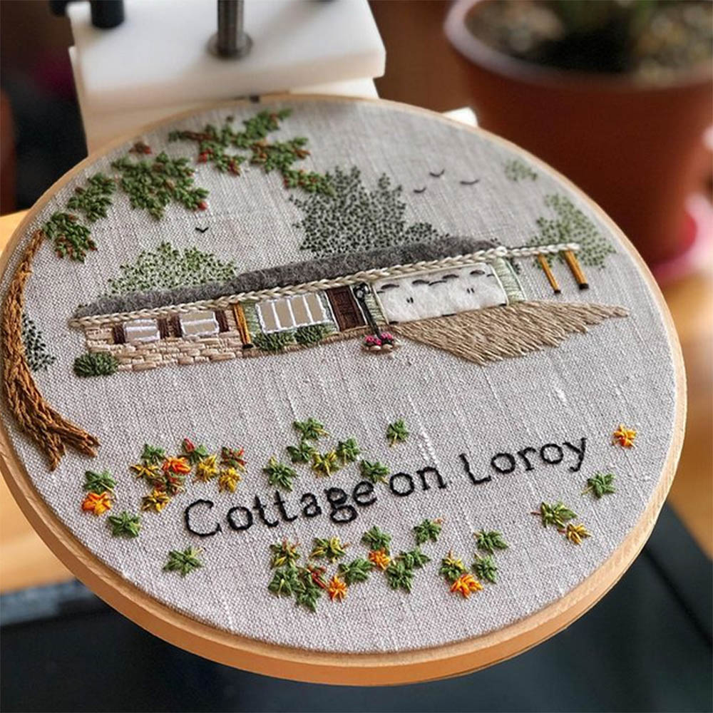 house embroidery project by the monsters lounge