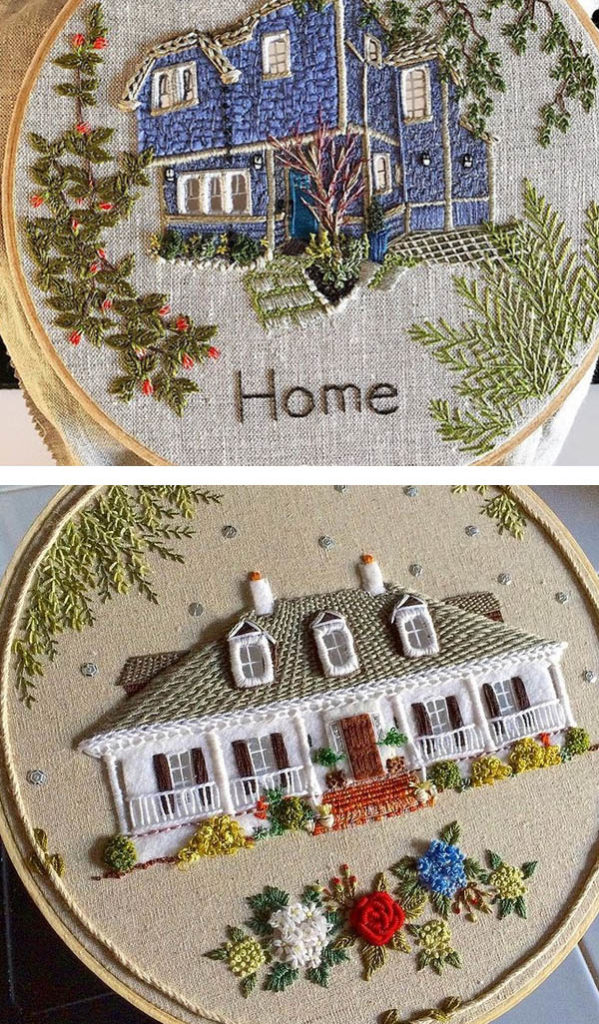 the monsters lounge house embroidery