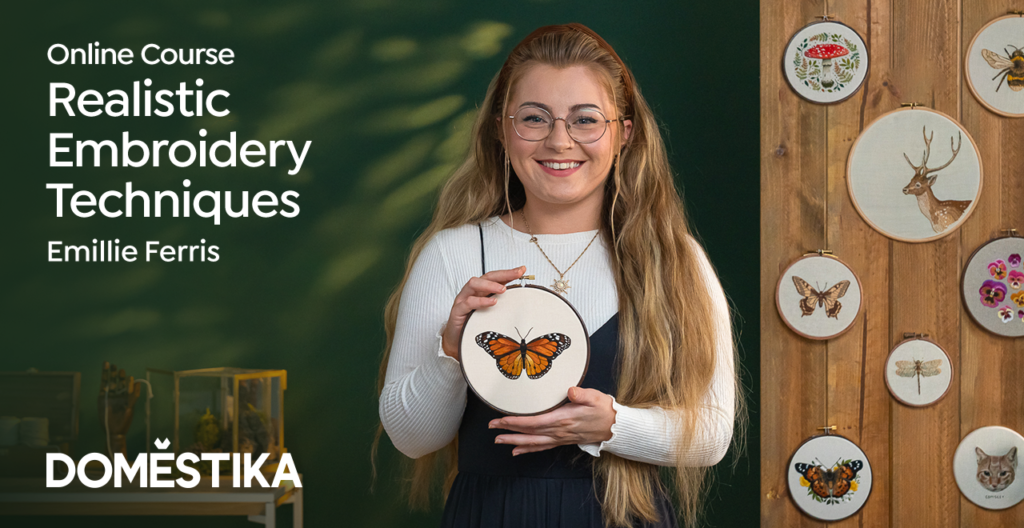 Online course - Realistic embroidery techniques by Emillie Ferris