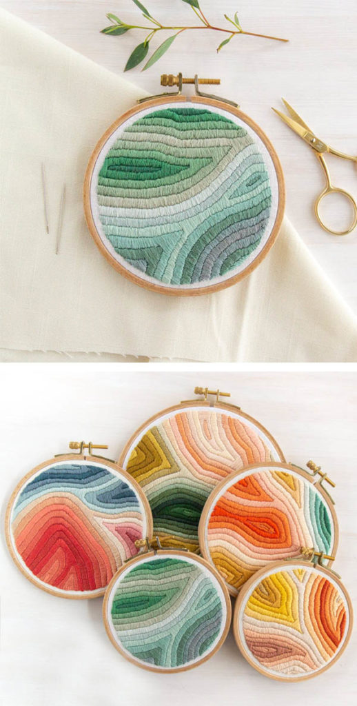 Marbled colorful embroidery pattern by LarkRising