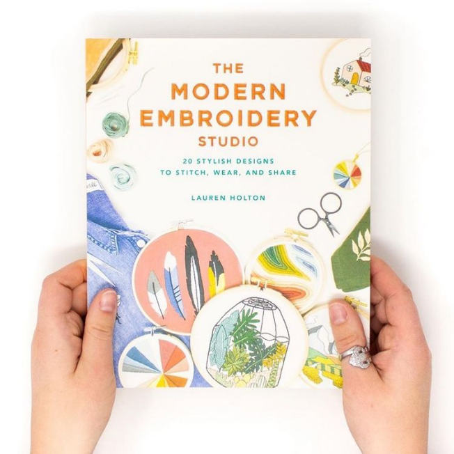 Modern embroidery book by Lauren Holton