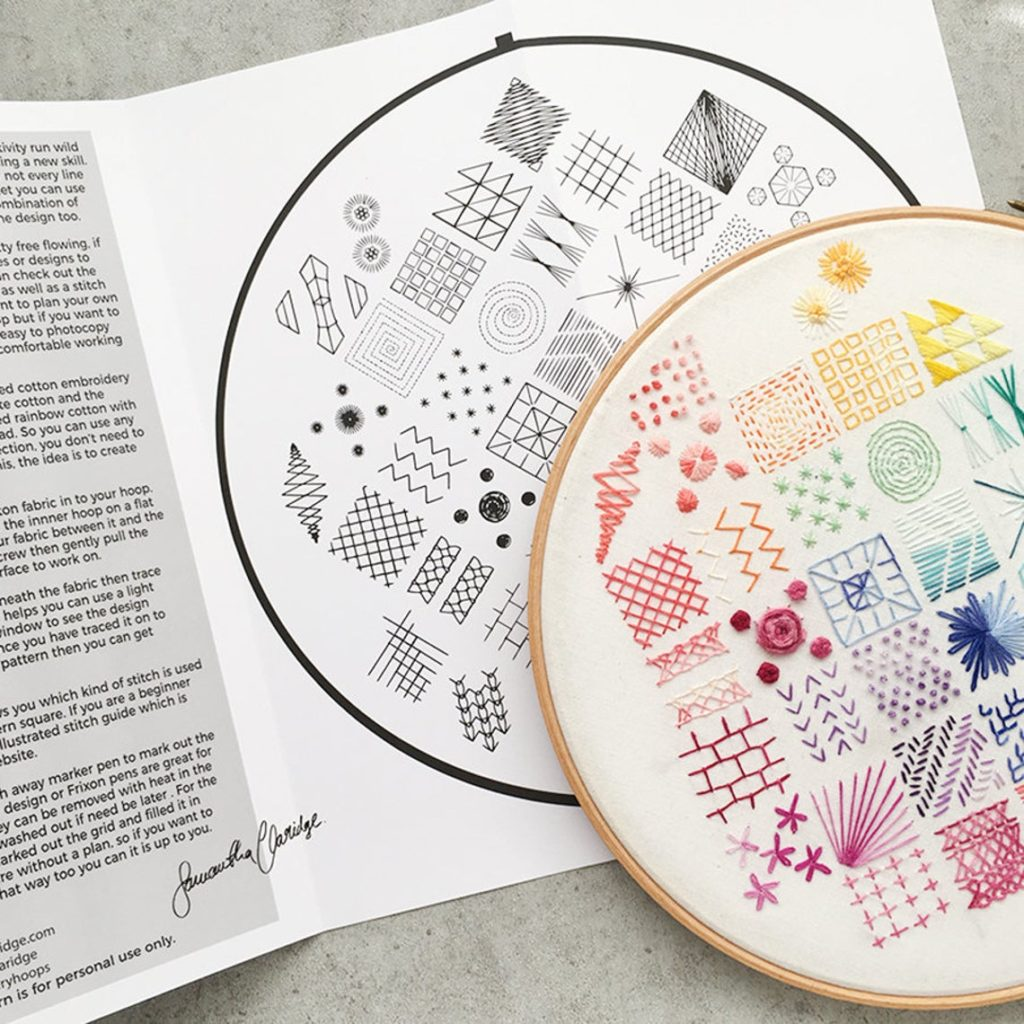 embroidery sampler kit by SamanthaClaridgeShop on Etsy