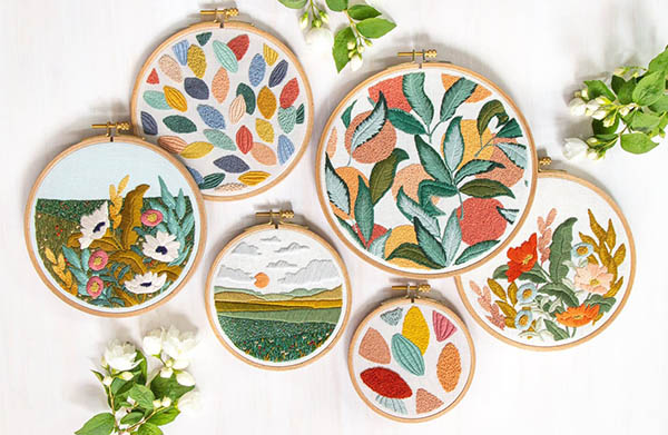 landscape embroidery pattern collection by LarkRising