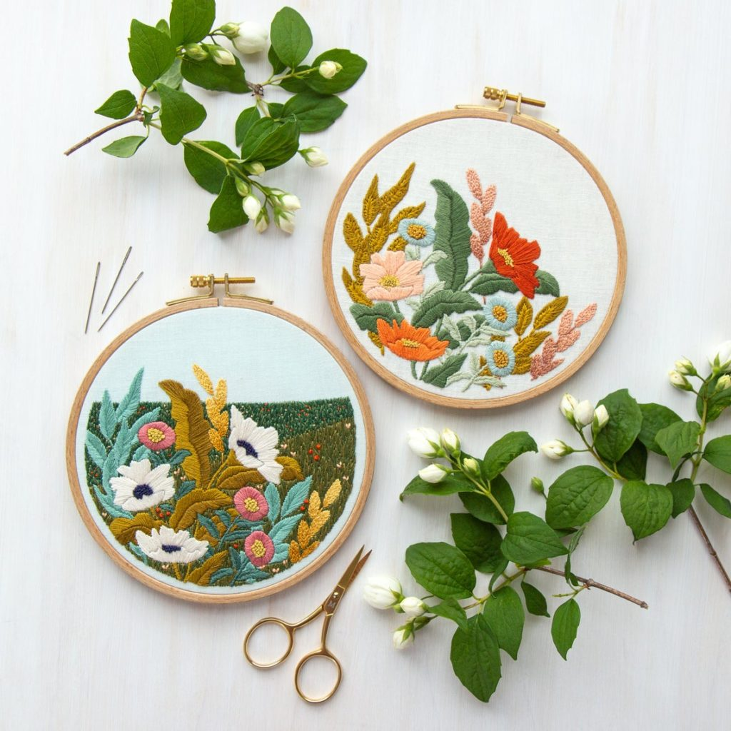 wildflower embroidery pattern by LarkRising