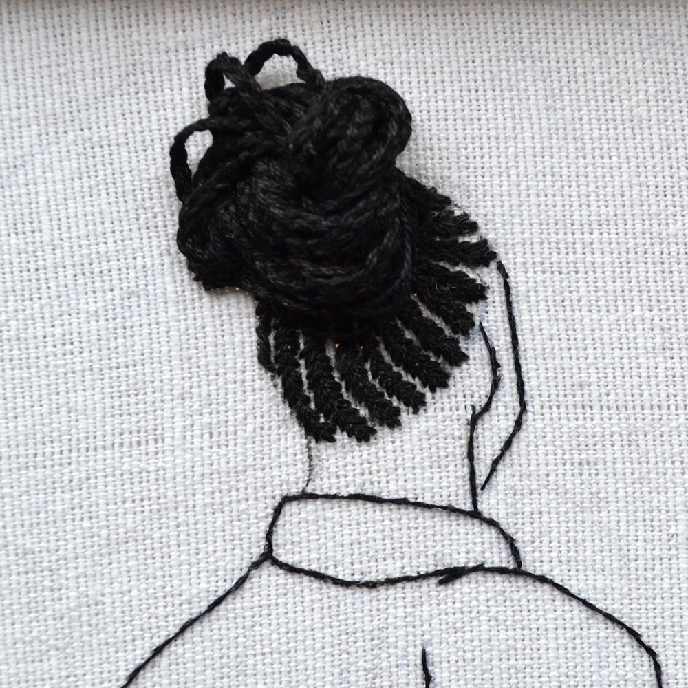 cornrows hair embroidery tutorial