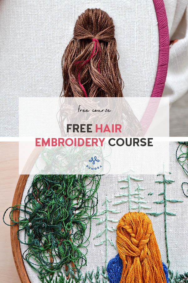 introduction to hair embroidery free embroidery course