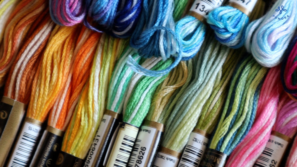 variegated embroidery floss by Anchor
