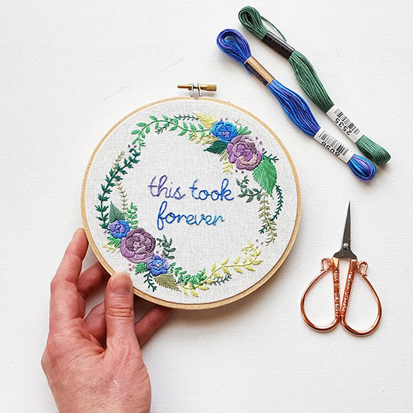 this took forever embroidery pattern by JessLongEmbroidery